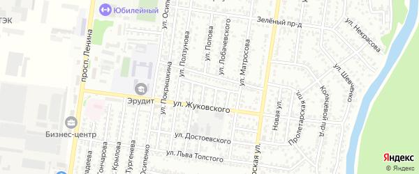 Улица Расковой на карте Рубцовска с номерами домов