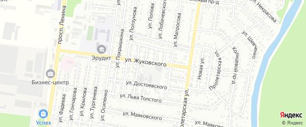 Улица Жуковского на карте Рубцовска с номерами домов