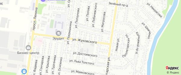Неждановой проезд на карте Рубцовска с номерами домов