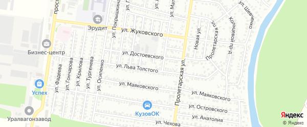 Улица Лизы Чайкиной на карте Рубцовска с номерами домов