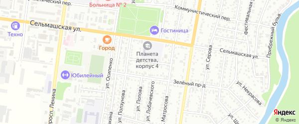 Проезд Сухова на карте Рубцовска с номерами домов