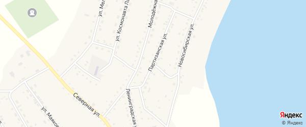 Партизанская улица на карте села Крутихи с номерами домов