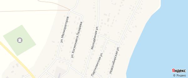 Молодежная улица на карте села Крутихи с номерами домов