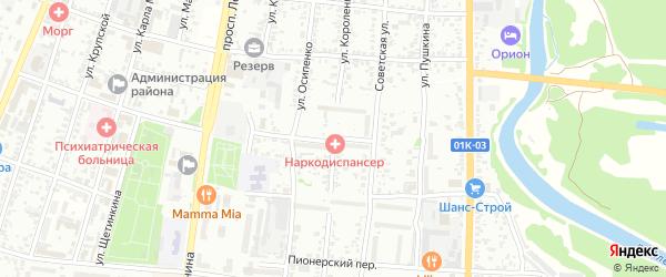 Юбилейная улица на карте садового некоммерческого товарищества N 3 с номерами домов