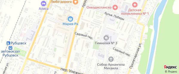 Садовый переулок на карте Рубцовска с номерами домов