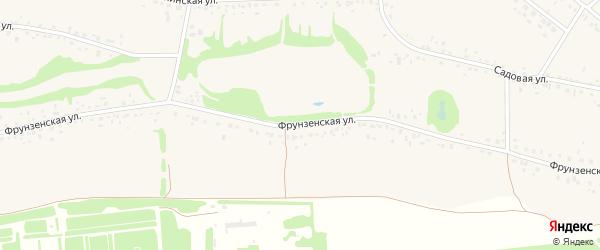 Фрунзенская улица на карте села Романово с номерами домов