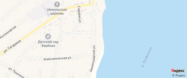 Ленинградская улица на карте села Крутихи с номерами домов