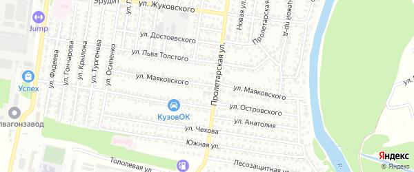 Улица Маяковского на карте Рубцовска с номерами домов
