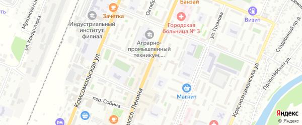 Переулок Сергея Кривенко на карте Рубцовска с номерами домов