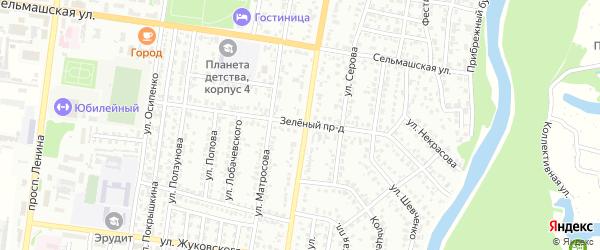 Зеленый проезд на карте Рубцовска с номерами домов