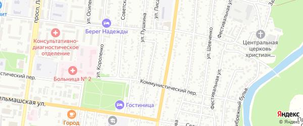 Улица Молодогвардейцев на карте Рубцовска с номерами домов