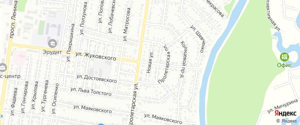 Новая улица на карте Рубцовска с номерами домов