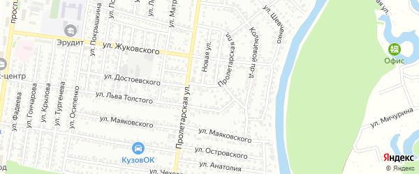 Пролетарская площадь на карте Рубцовска с номерами домов