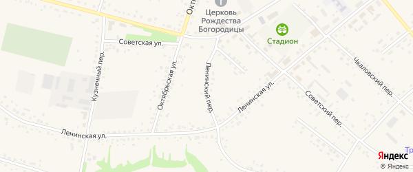 Ленинский переулок на карте села Романово с номерами домов