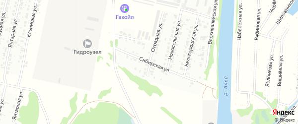 Сибирская улица на карте Рубцовска с номерами домов
