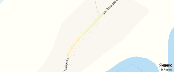 Улица Захарова на карте села Мормыши с номерами домов
