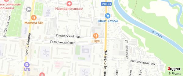 Улица Пушкина на карте Рубцовска с номерами домов