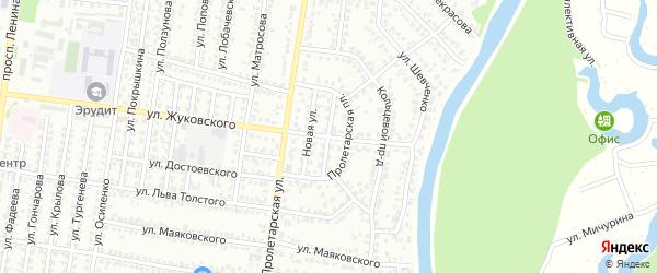 Восточный проезд на карте Рубцовска с номерами домов