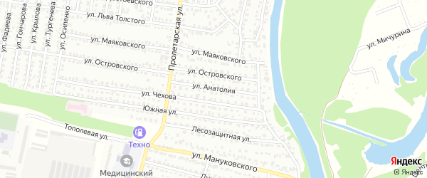 Улица Анатолия на карте Рубцовска с номерами домов