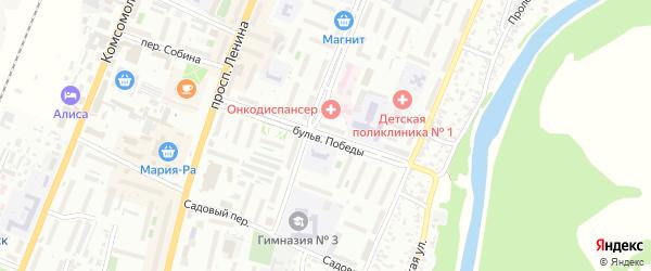 Бульвар Победы на карте Рубцовска с номерами домов