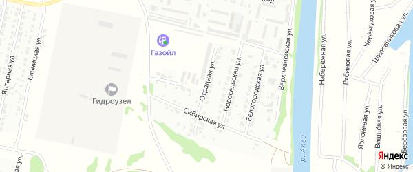 Отрадная улица на карте Рубцовска с номерами домов