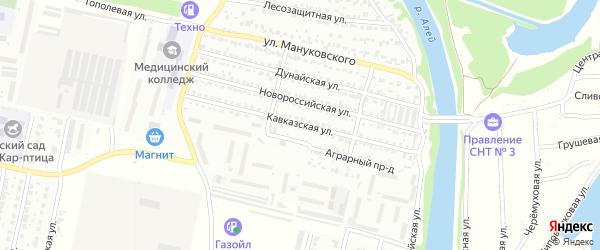 Кавказская улица на карте Рубцовска с номерами домов