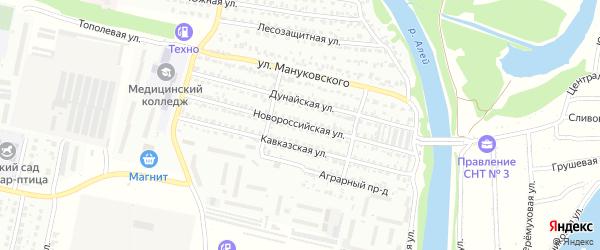 Новороссийская улица на карте Рубцовска с номерами домов