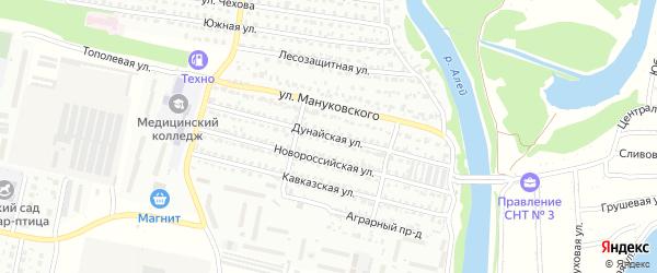 Дунайская улица на карте Рубцовска с номерами домов