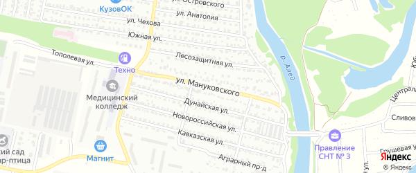 Улица Мануковского на карте Рубцовска с номерами домов