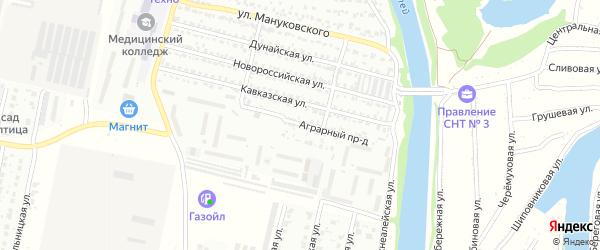 Аграрный проезд на карте Рубцовска с номерами домов