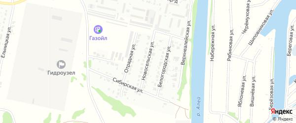 Новосельская улица на карте Рубцовска с номерами домов