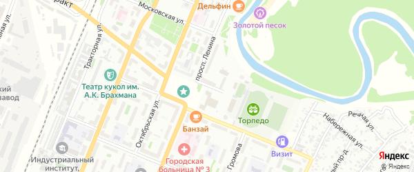 Улица Калинина на карте Рубцовска с номерами домов
