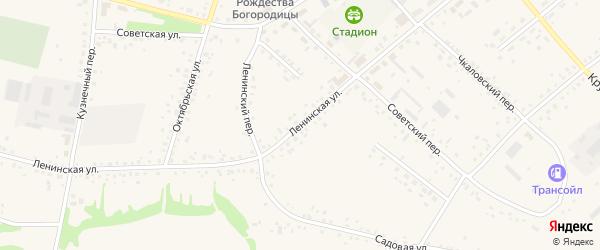 Ленинская улица на карте села Романово с номерами домов