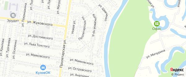Кольцевой проезд на карте Рубцовска с номерами домов