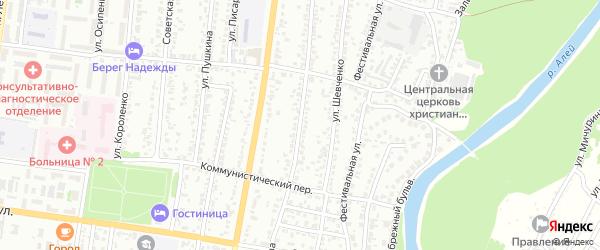 Улица Серова на карте Рубцовска с номерами домов