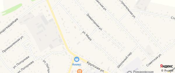 Улица Мира на карте села Романово с номерами домов