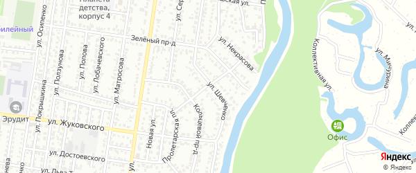 Улица Тельмана на карте Рубцовска с номерами домов