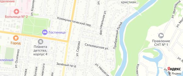 Проезд Красных Партизан на карте Рубцовска с номерами домов
