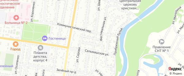 Хрустальный проезд на карте Рубцовска с номерами домов
