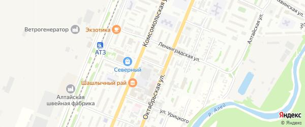 Смоленская улица на карте Рубцовска с номерами домов