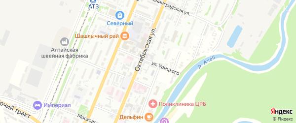 Улица Урицкого на карте Рубцовска с номерами домов