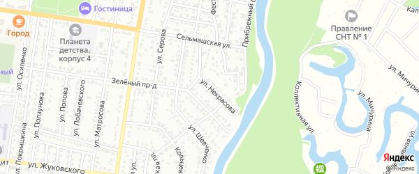 Улица Некрасова на карте Рубцовска с номерами домов