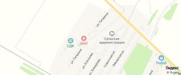 Улица Гагарина на карте Ремовского поселка с номерами домов