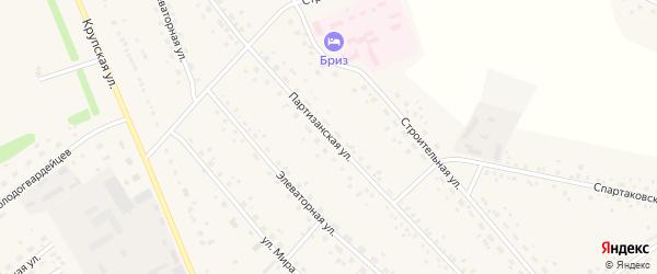 Партизанская улица на карте села Романово с номерами домов
