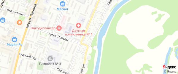 Союзный переулок на карте Рубцовска с номерами домов