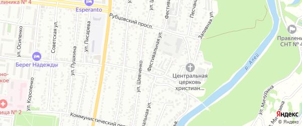 Фестивальная улица на карте Рубцовска с номерами домов