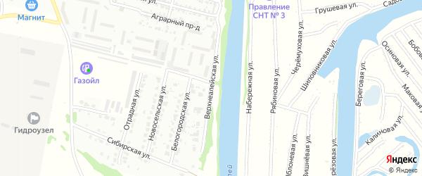Верхнеалейская улица на карте Рубцовска с номерами домов