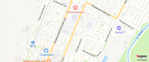 Танковая улица на карте Рубцовска с номерами домов