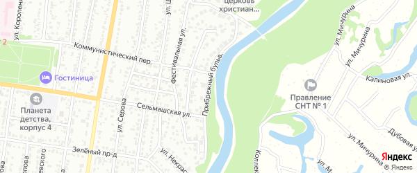 Прибрежный бульвар на карте Рубцовска с номерами домов
