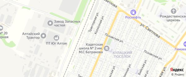Колхозная улица на карте Рубцовска с номерами домов